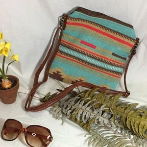 Pine Creek Bags - NWT Blue and Red Tribal Collection Crossbody Bag